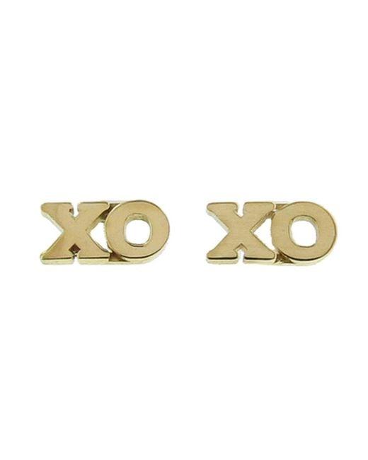 Jennifer Meyer - Metallic Xo Stud Earrings - Lyst