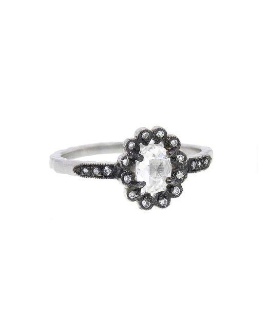 Cathy Waterman - Multicolor Oval Diamond Flower Ring - Lyst