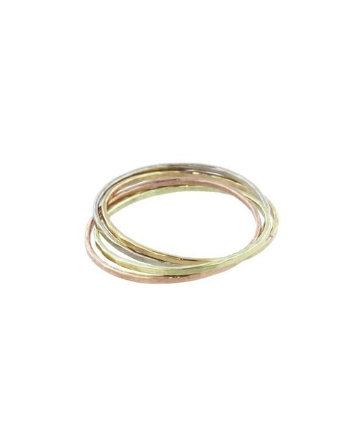 Melissa Joy Manning - Multicolor Interlocking Mixed Metal Rings - Lyst