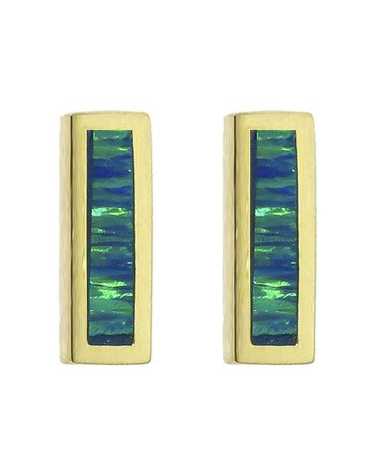Jennifer Meyer - Multicolor Short Opal Inlay Bar Stud Earrings - Lyst