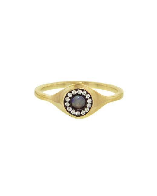 Ileana Makri - Multicolor Evil Eye Opal Sun Ring - Lyst
