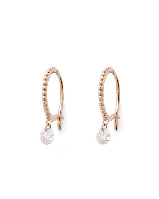 Raphaele Canot - Multicolor Single Set Free Diamond Beaded Hoop Earrings - Lyst