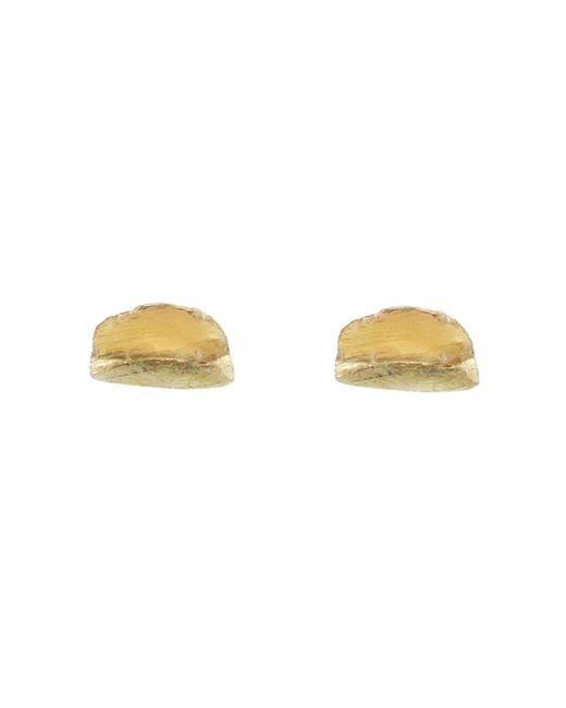 Wwake - Metallic Echo Stud Earrings - Lyst