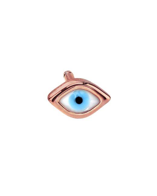 Sydney Evan - Pink Enamel Evil Eye Single Stud Earring - Lyst