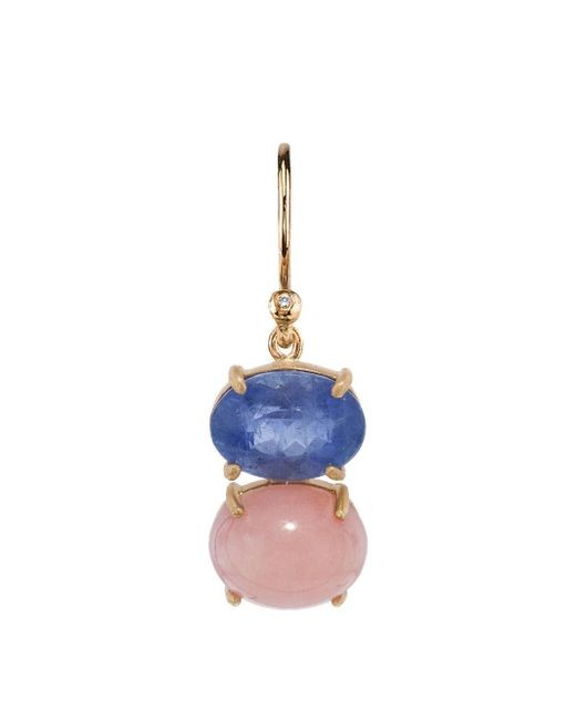Irene Neuwirth - Multicolor One-of-a-kind Aquamarine Oval And Pink Opal Single Earring - Lyst