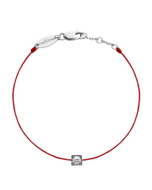RedLine - Metallic Cube Femme Diamond Red String Bracelet - Lyst