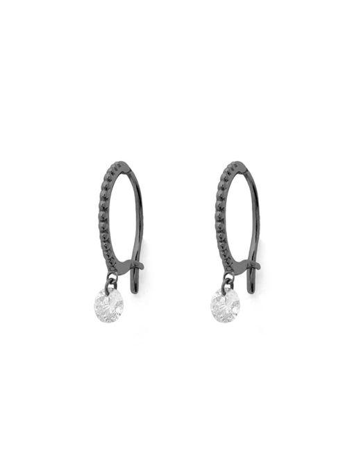 Raphaele Canot - Multicolor Blackened Hoop Earrings With Set Free Diamonds - Lyst