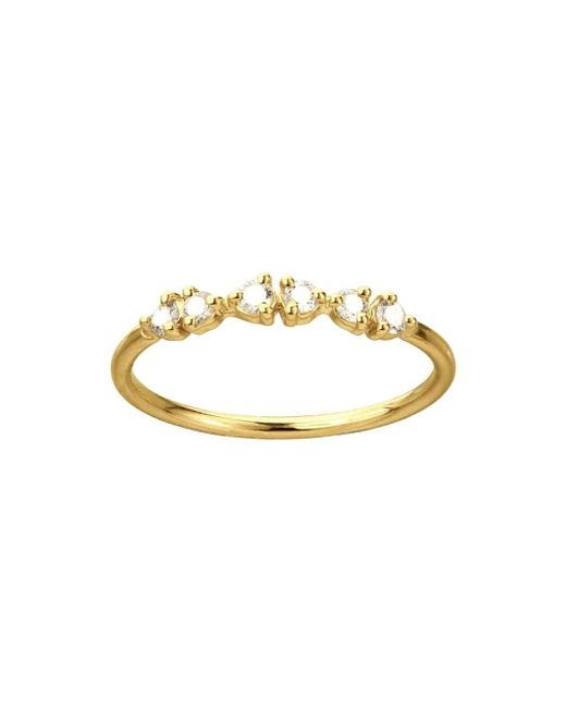 Wwake - Multicolor White Diamond Demi-paired Ring - Lyst