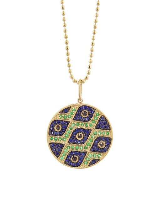 Sydney Evan - Multicolor Pattern Evil Eye Disc Necklace - Lyst