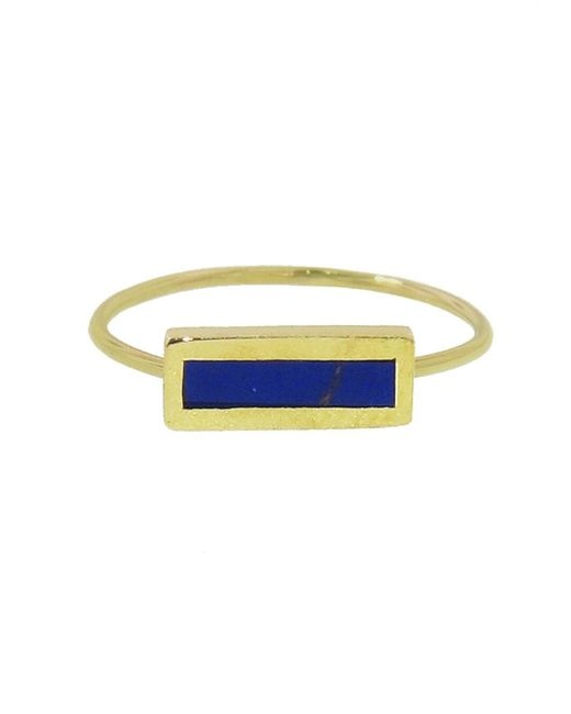Jennifer Meyer - Multicolor Short Inlay Lapis Bar Ring - Lyst