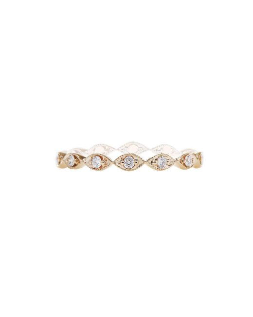 Sethi Couture - Metallic Marquise Diamond Band Ring - Lyst