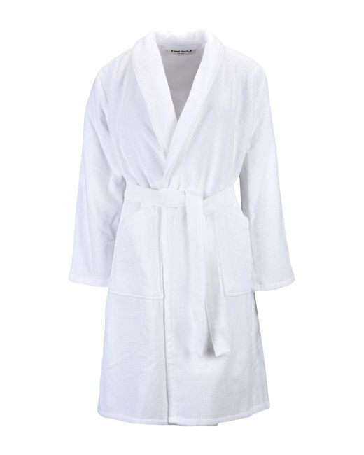 Kenzo Towelling Dressing Gown in White for Men - Lyst