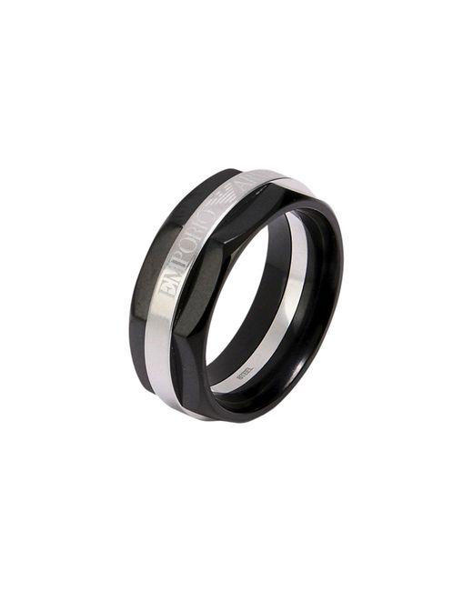 Emporio Armani | Black Ring for Men | Lyst