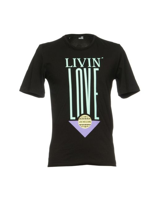 Love Moschino - Black T-shirts for Men - Lyst