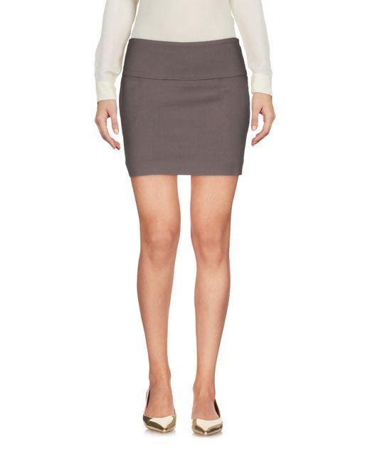 Patrizia Pepe - Brown Mini Skirt - Lyst
