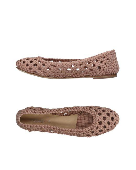 Vicini Tapeet - Pink Ballet Flats - Lyst