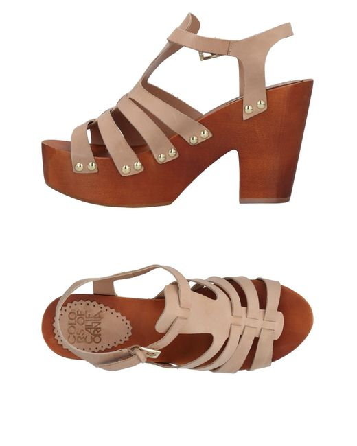 Colors Of California - Brown Sandals - Lyst