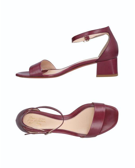 Santoni - Purple Sandals - Lyst