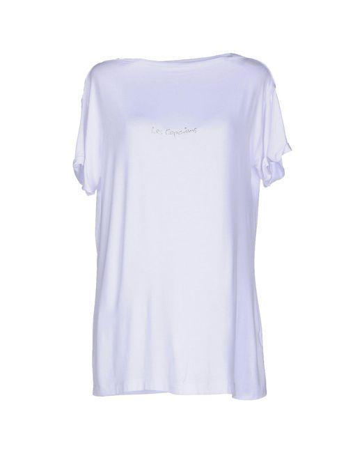 Les Copains - White T-shirt - Lyst