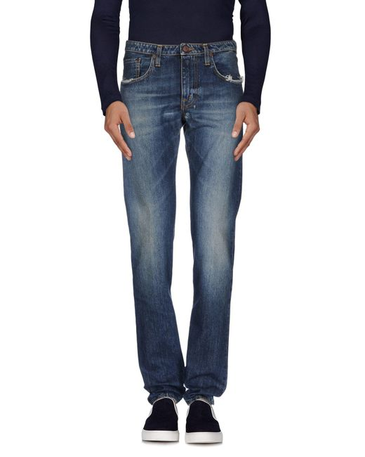 People - Blue (+) People Denim Trousers for Men - Lyst