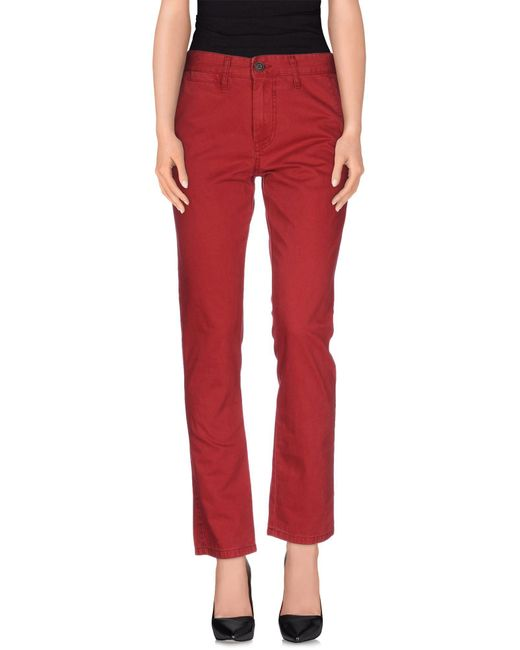 Solid - Red Casual Pants - Lyst