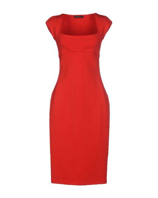 Plein Sud - Red Knee-length Dresses - Lyst