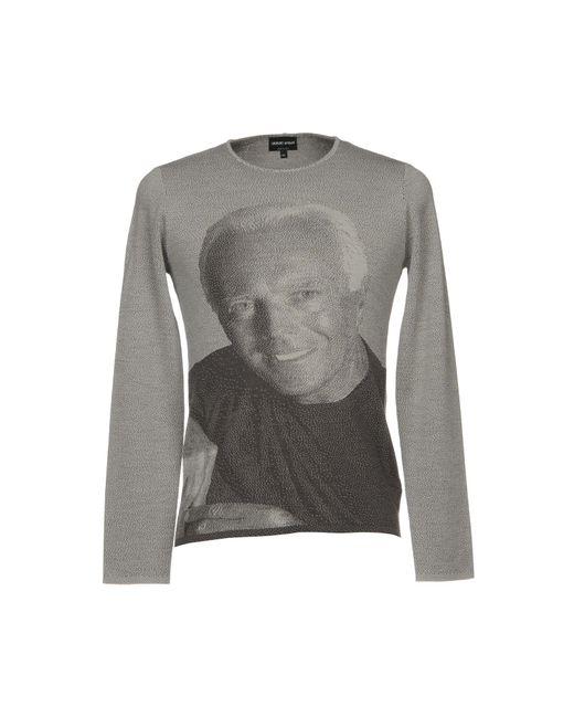Giorgio Armani - Gray Sweaters for Men - Lyst