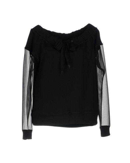 Pinko - Black Sweatshirt - Lyst