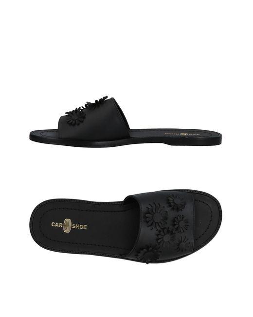 Car Shoe Black Sandals