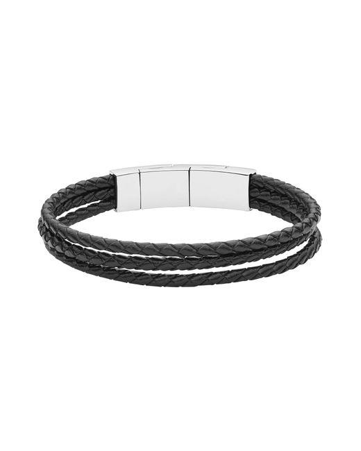 Fossil   Black Bracelet for Men   Lyst
