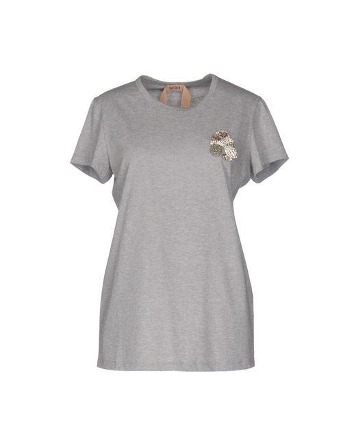 N°21 - Gray T-shirt - Lyst