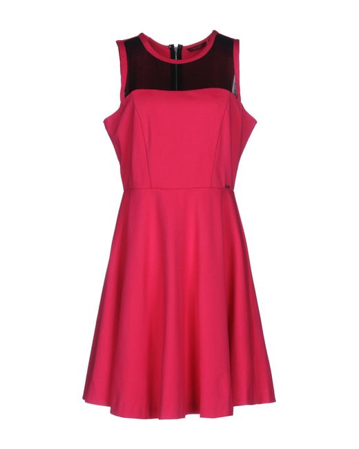 Guess - Pink Short Dress - Lyst
