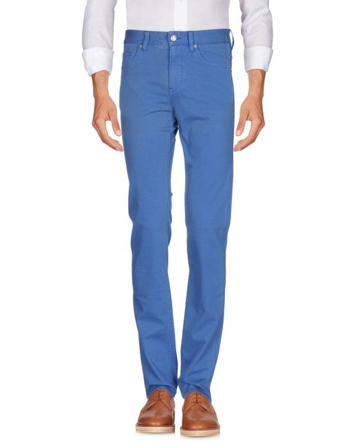 BOSS Green - Blue Casual Trouser for Men - Lyst