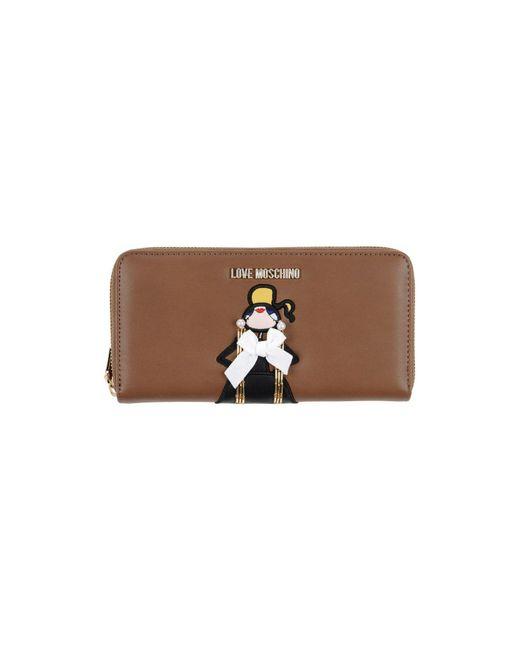 Love Moschino - Brown Wallet - Lyst
