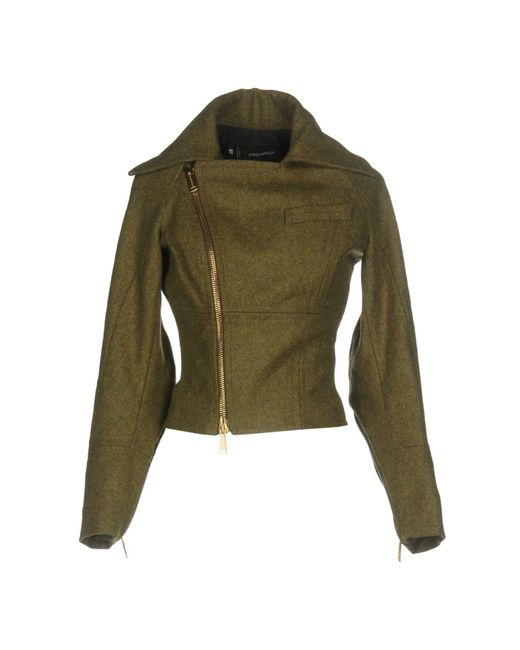 DSquared² - Green Jacket - Lyst