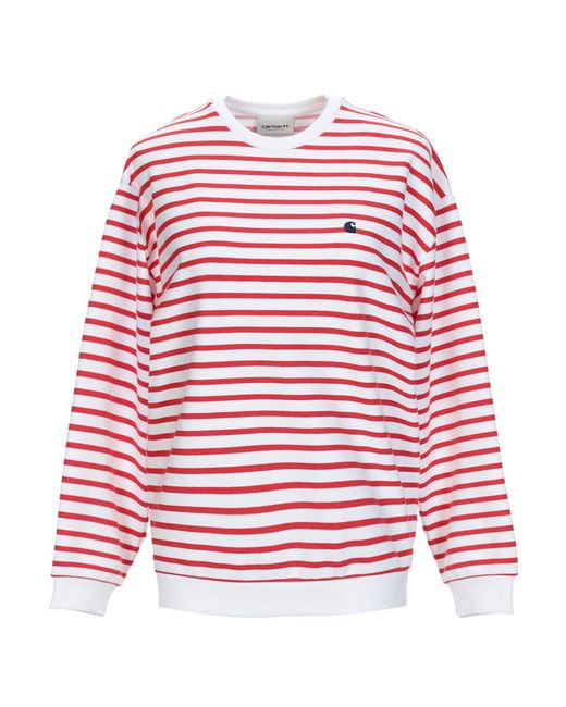 Carhartt - Red Sweatshirt - Lyst