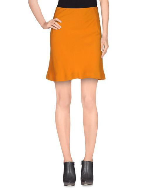 Normaluisa - Orange Knee Length Skirt - Lyst