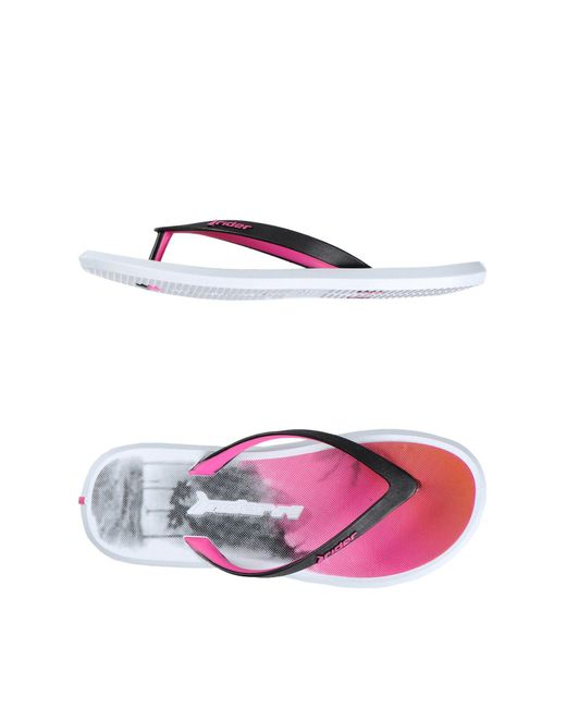Rider - Pink Toe Strap Sandal - Lyst