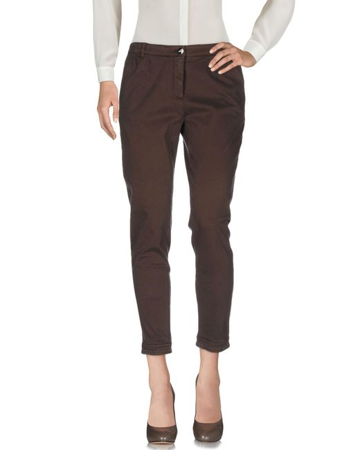Armani - Brown Casual Pants - Lyst