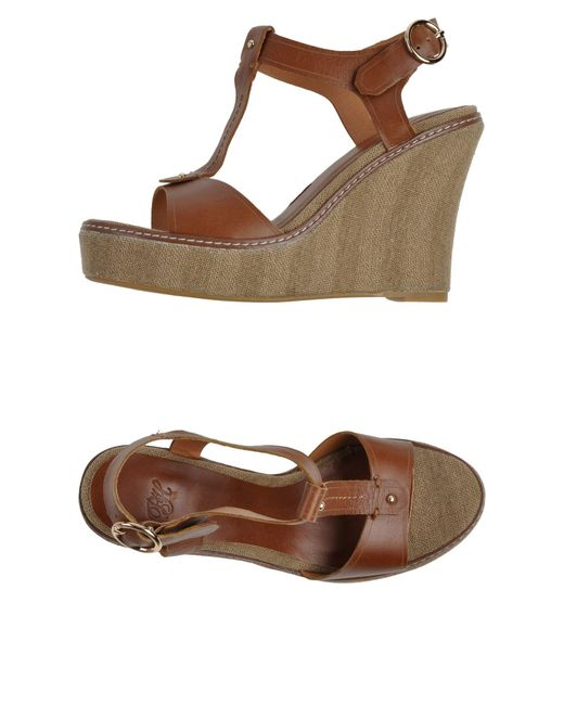 Pedro Del Hierro Madrid | Brown Sandals | Lyst
