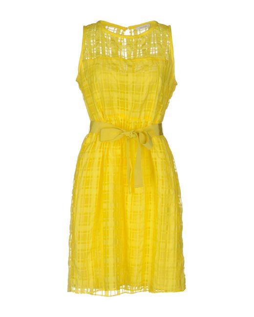 I Blues - Yellow Short Dress - Lyst