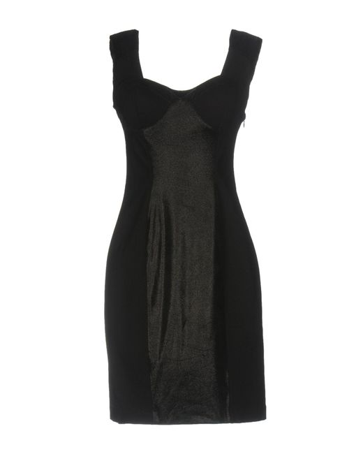 Guess - Black Short Dress - Lyst