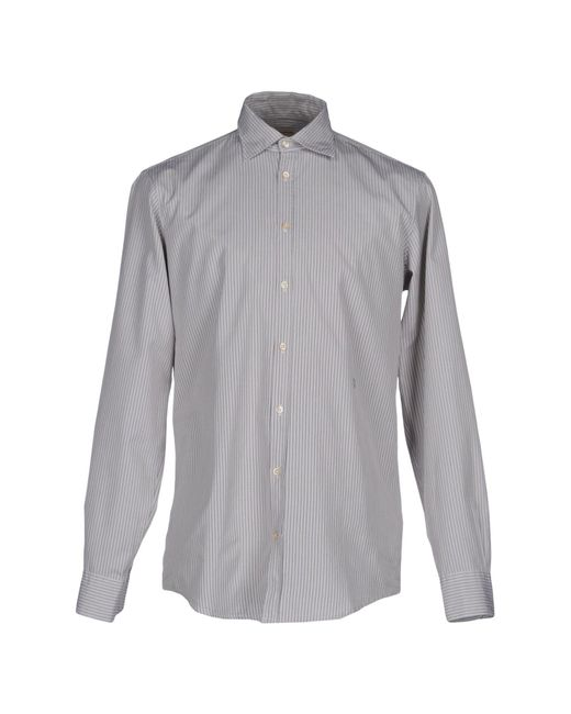 Massimo Alba - Gray Shirts for Men - Lyst