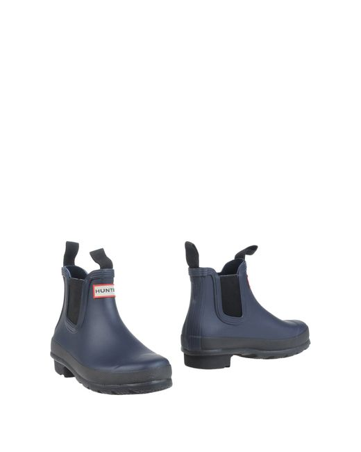Hunter Ankle Boots in Blue (Dark blue) | Lyst