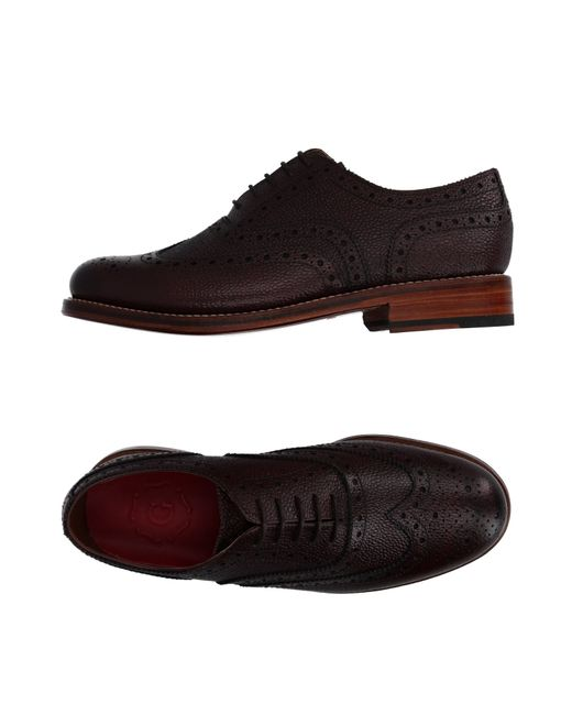GRENSON   Purple Lace-up Shoes for Men   Lyst