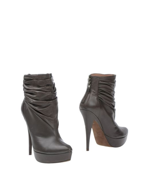 Pura López | Brown Leather Ankle Boots | Lyst