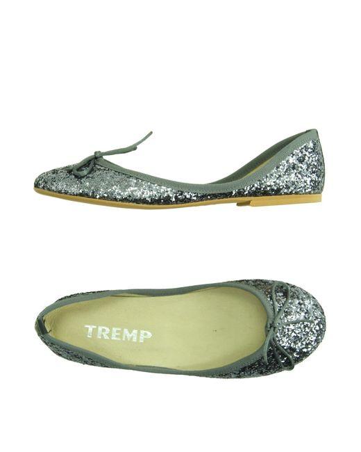 Tremp | Gray Ballet Flats | Lyst