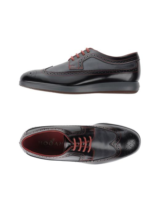 Hogan | Black Lace-up Shoes for Men | Lyst