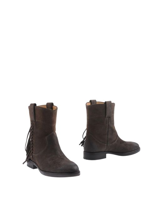 Belle By Sigerson Morrison | Brown Ankle Boots | Lyst