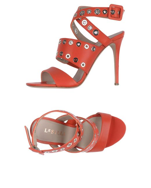 Le Silla | Red Sandals | Lyst